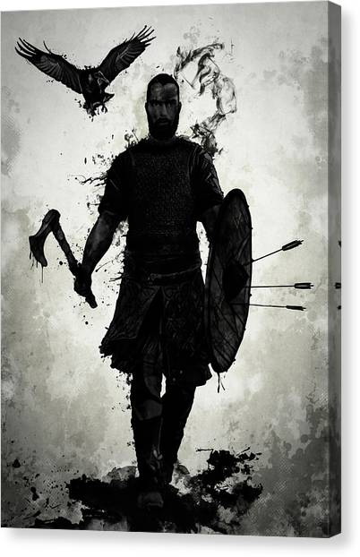 Ravens Canvas Print - To Valhalla by Nicklas Gustafsson