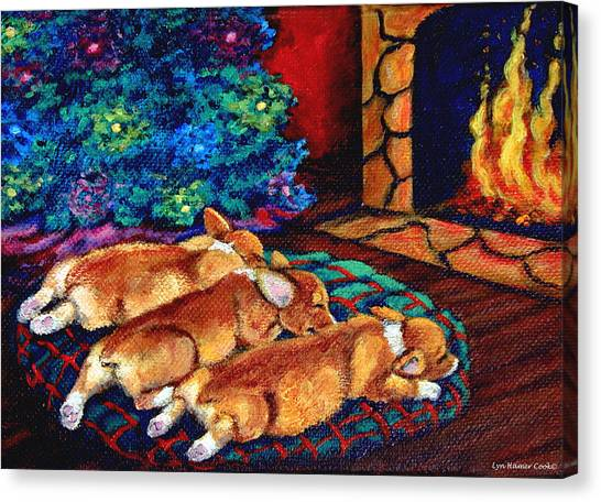 Toasty Toes Canvas Print by Lyn Cook