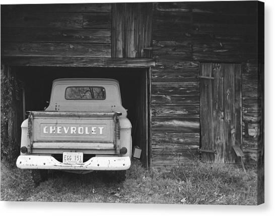 Tobacco Barn Chevy Canvas Print