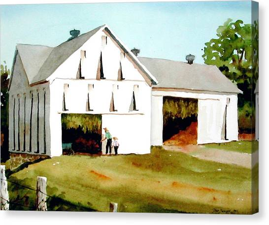 Barns Canvas Print - Tobacco Barn by Faye Ziegler