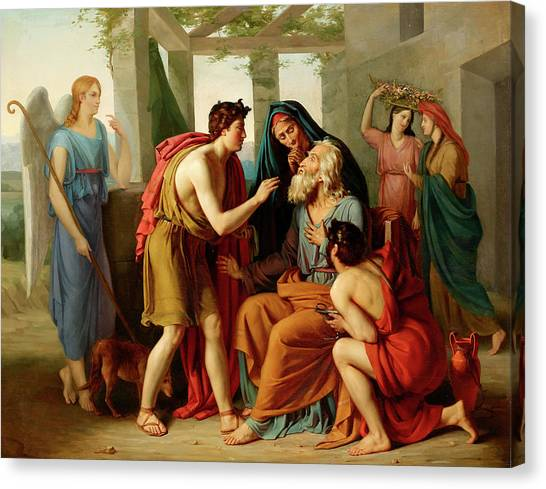 Mercy Canvas Print - Tobias Returning Sight To His Father by German School