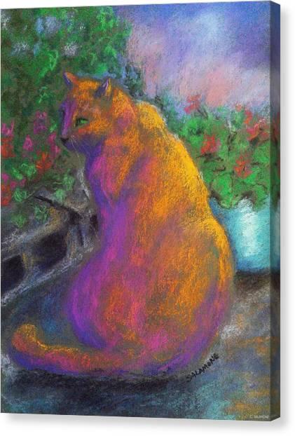 Toby's Garden Path Canvas Print