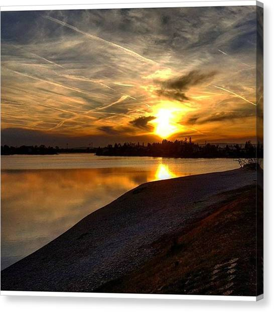 Roller Skating Canvas Print - Today's Beautiful Evening Spent by Norbert Chromek