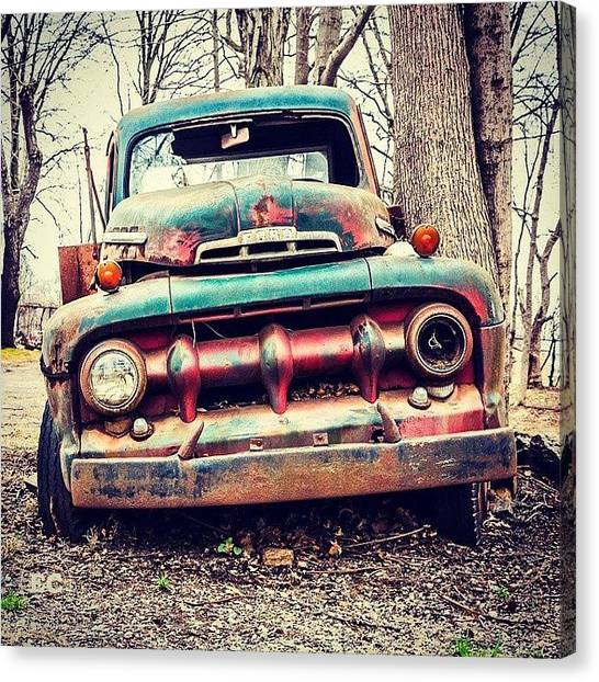 Ford Canvas Print - Today's Big Find #potd #photography by Erin Cadigan