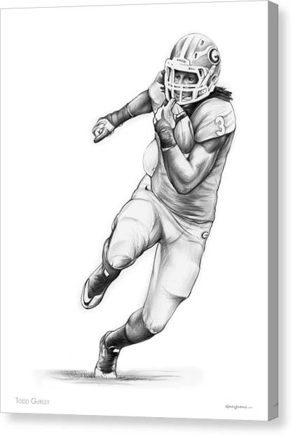Running Backs Canvas Print - Todd Gurley by Greg Joens
