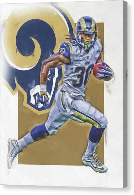 Los Angeles Rams Canvas Print - Todd Gurley Los Angeles Rams Oil Art by Joe Hamilton