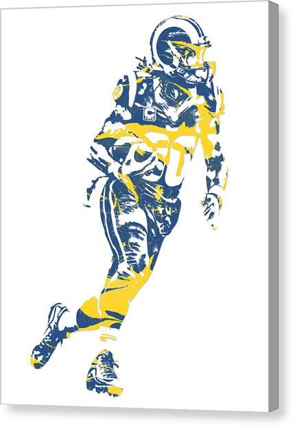 Los Angeles Rams Canvas Print - Todd Gurley Los Angeles Rams Pixel Art 22 by Joe Hamilton