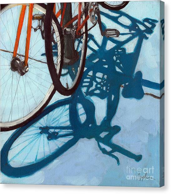 Together - City Bikes Canvas Print