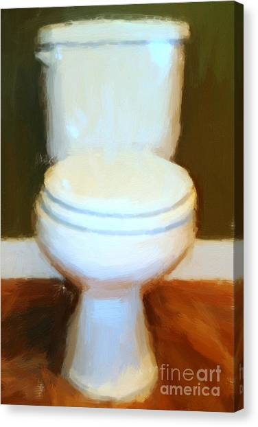 Toilet Canvas Print by Wingsdomain Art and Photography