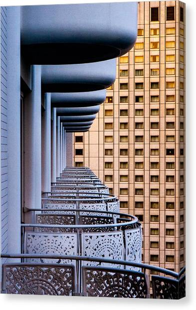Tokyo Balconies Canvas Print by Jay Heiser