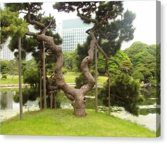 Tokyo Skyline Canvas Print - Tokyo I by Wendy Uvino