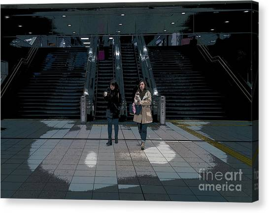 Tokyo Metro, Japan Poster Canvas Print