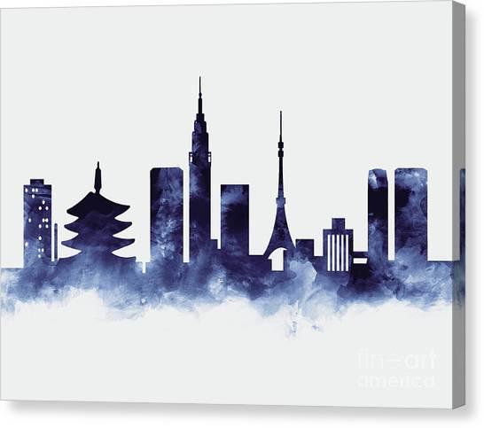 Tokyo Skyline Canvas Print - Tokyo Skyline by Monn Print