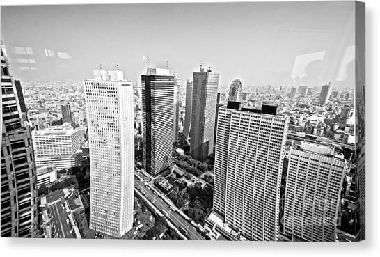 Tokyo Skyline Canvas Print - Tokyo Skyline by Pravine Chester