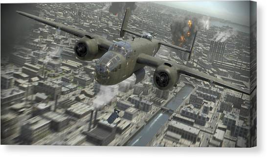 Bombers Canvas Print - Tokyo Surprise by Robert Perry
