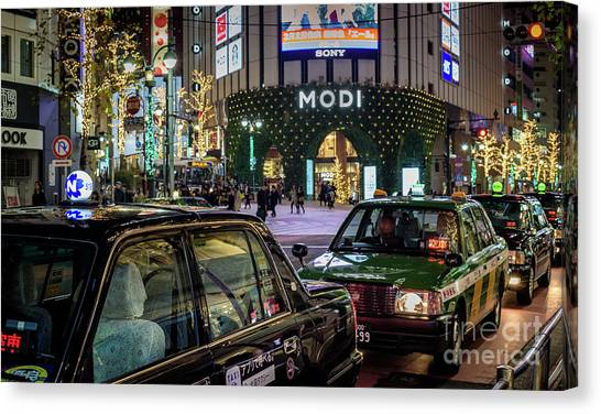 Tokyo Taxis, Japan Canvas Print
