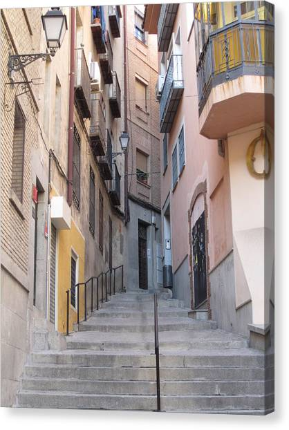 Toledo Alley Steps Canvas Print