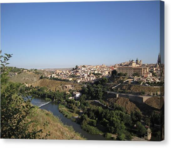 Toledo And The Country Side Canvas Print