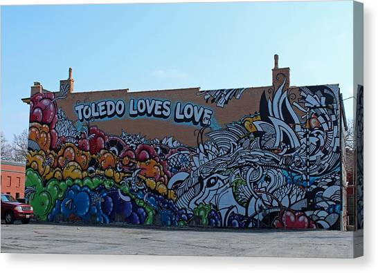 Toledo Loves Love Canvas Print