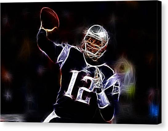 Patriot League Canvas Print - Tom Brady - New England Patriots by Paul Ward