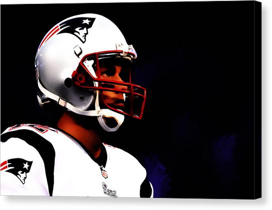 John Elway Canvas Print - Tom Brady 05b by Brian Reaves