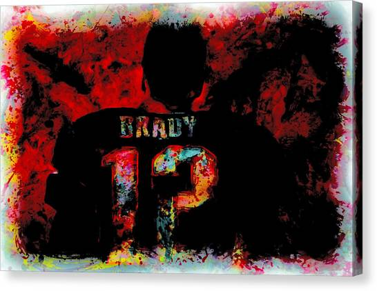 John Elway Canvas Print - Tom Brady 12a by Brian Reaves