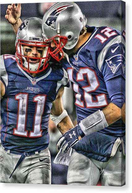 Iphone Case Canvas Print - Tom Brady Art 1 by Joe Hamilton
