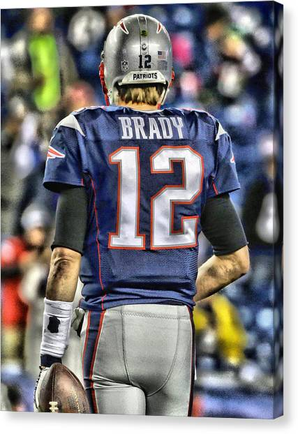 Tom Brady Canvas Print - Tom Brady Art 2 by Joe Hamilton