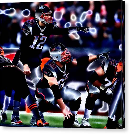 John Elway Canvas Print - Tom Brady Audible by Brian Reaves
