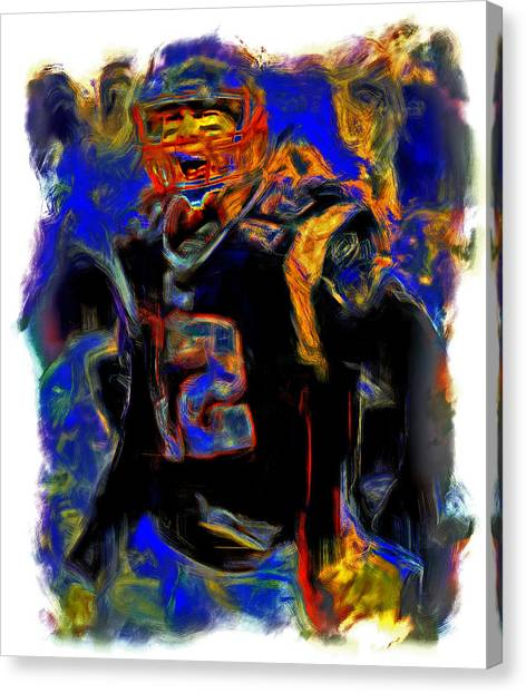 John Elway Canvas Print - Tom Brady Fired Up by Brian Reaves