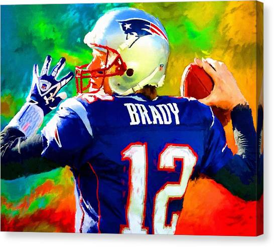 Tom Brady Canvas Print - Tom Brady Football Art Painting by Andres Ramos