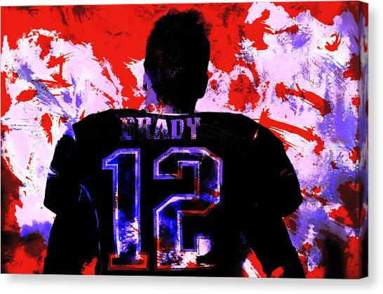 John Elway Canvas Print - Tom Brady I Won Again by Brian Reaves