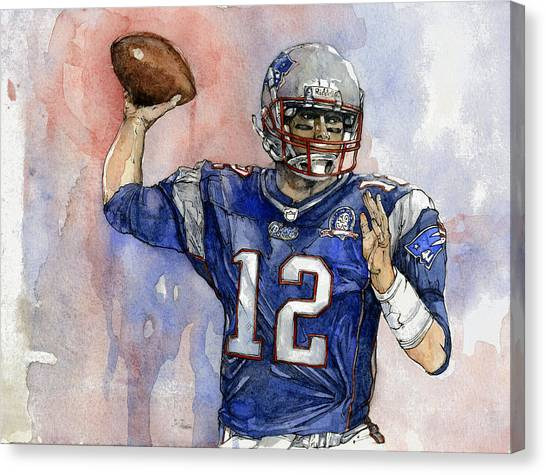 Patriot League Canvas Print - Tom Brady by Michael  Pattison