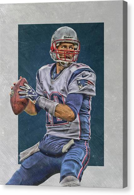 Tom Brady Canvas Print - Tom Brady New England Patriots Art by Joe Hamilton
