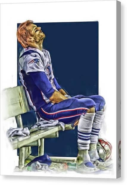 Tom Brady Canvas Print - Tom Brady New England Patriots Oil Art by Joe Hamilton