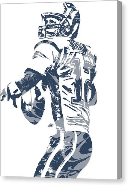 Tom Brady Canvas Print - Tom Brady New England Patriots Pixel Art 11 by Joe Hamilton