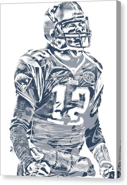 Tom Brady Canvas Print - Tom Brady New England Patriots Pixel Art 41 by Joe Hamilton