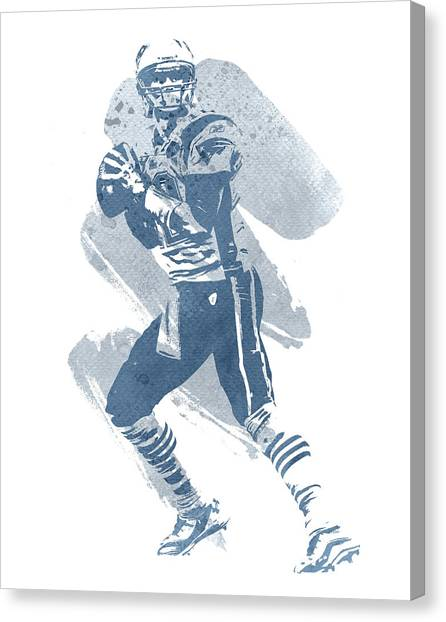Tom Brady Canvas Print - Tom Brady New England Patriots Water Color Art 2 by Joe Hamilton