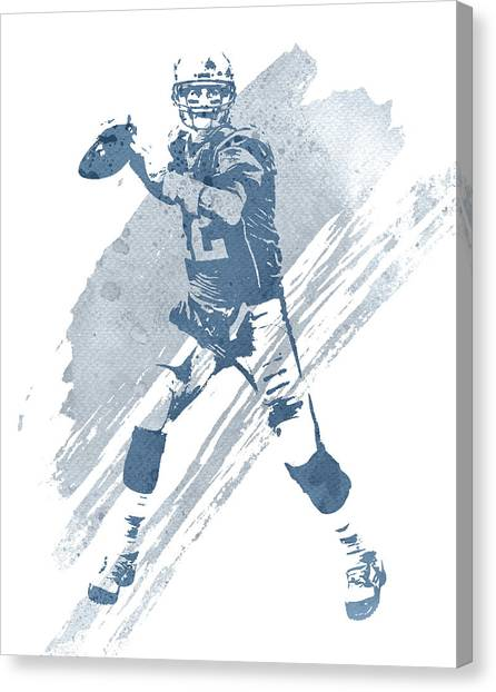 Tom Brady Canvas Print - Tom Brady New England Patriots Water Color Art 3 by Joe Hamilton