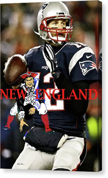 John Elway Canvas Print - Tom Brady, Number 12, New England Patriots, Captain America by Thomas Pollart
