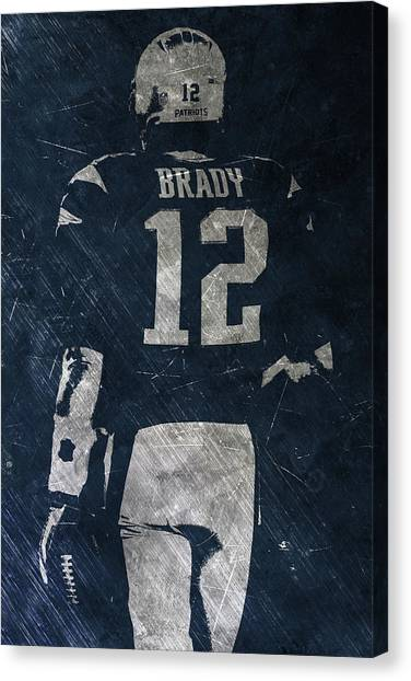 Tom Brady Canvas Print - Tom Brady Patriots 3 by Joe Hamilton
