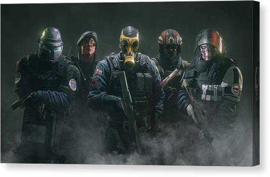 Rainbow Six Canvas Print - Tom Clancy's Rainbow Six Siege by Dorothy Binder