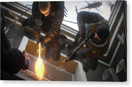 Rainbow Six Canvas Print - Tom Clancy's Rainbow Six Siege by Lissa Barone