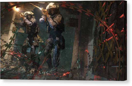 Rainbow Six Canvas Print - Tom Clancy's Rainbow Six Siege by Super Lovely