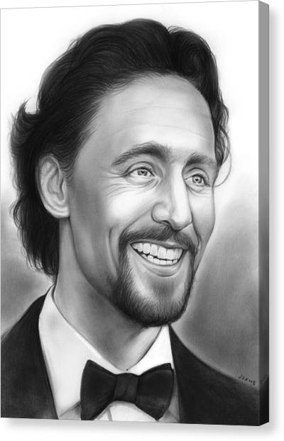 Avengers Canvas Print - Tom Hiddleston by Greg Joens