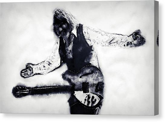 Tom Petty - 16 Canvas Print by Andrea Mazzocchetti
