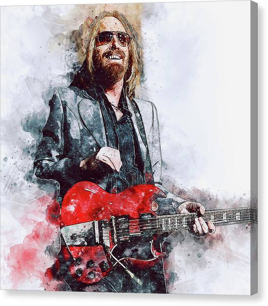 Tom Petty - 21 Canvas Print