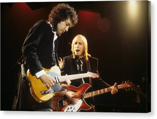 Tom Petty Canvas Print - Tom Petty And Mike Campbell by Rich Fuscia