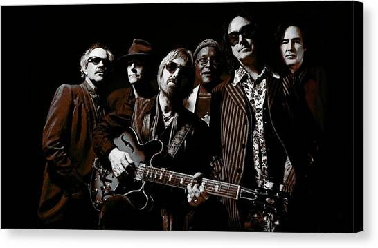 Tom Petty Canvas Print - Tom Petty And The Heartbreakers by Super Lovely