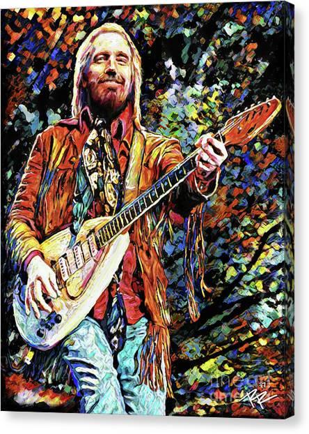 Tom Petty Canvas Print - Tom Petty Art by Ryan Rock Artist